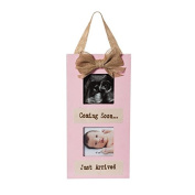 B. Boutique Pink Wooden Sonogram Hanging Picture Frame