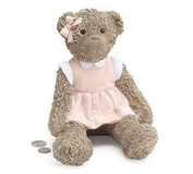 9729391 Teddy Bear Bank in Pink Dress