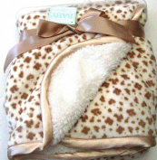 Soft and Snuggly Sherpa Baby Blanket 80cm x 80cm