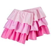 Circo Baby Bedding Triple Ruffled Solid Crib Skirt, Pink