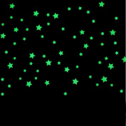 Stickers Fluorescent, ZTY66 100PCS Kids Bedroom Glow In The Dark Stars Mural Stickers for DIY Home Decor