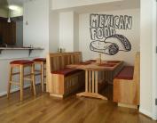 Wall Vinyl Sticker Decals Mural Room Design Pattern Art Taco Mexican Guy Food Kitchen Burrito mi976