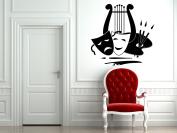 Wall Vinyl Sticker Decals Mural Room Design Decor Art Pattern Mask Drama Theatre Artist mi906