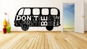 Wall Vinyl Sticker Decals Mural Room Design Decor Art hand print Peace Sign Dove Bird Hippie Bus mi882