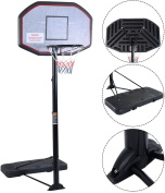IUNNDS Pro Court Height-Adjustable Portable Basketball Hoop & Stand System with 110cm Backboard