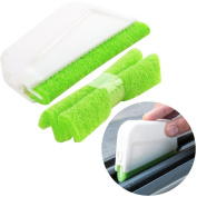 Trycooling Window Groove Gap Cleaning Brushes Door Window Track Kitchen Corner Cleaning Tools with 2 Brush Heads