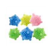 6pcs/lot Clear Laundry Balls Machine Washing Cleaning Balls Clothes Cleaning Tool, Random Colour