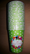 40 Pack 240ml Paper Tumblers Green