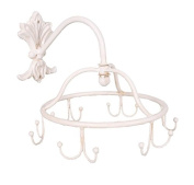 Wall -Mounted Metal Saucepan Pan Kitchen Hanging Rack on Chain Shabby Chic Style