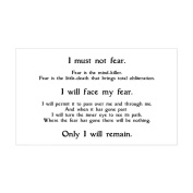 CafePress - Litany Against Fear - Rectangle Bumper Sticker Car Decal