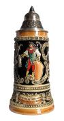German Beer Stein drunken son Stein 0.75 litre tankard, beer mug