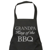 Grandpa King Of The BBQ's Black Apron Novelty Gift Fathers Day Birthday Christmas Present
