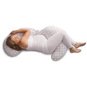 Boppy Slipcovered Pregnancy Body Pillow, Trellis, White