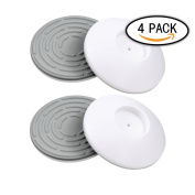 EBDcom 4 Pack Wall Caps for Baby Gates Wall Guard Protector Pads Pressure Mount Perfect for Children Safety Gates Anti Scratching Walls, Stairs And Doors