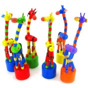 Leedford Kids Intelligence Toy Dancing Stand Colourful Rocking Giraffe Wooden Toy