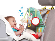 Taf Toys Play & Kick Car Seat Toy   Baby's Activity & Entertaining Centre, For Easier Drive And Easier Parenting  Keep Baby Calm  Lights & Musical, Baby Safe Mirror, Detachable Toys