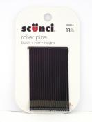 Scunci Black Roller Pins, 18 Pcs + FREE Curad Bandages 8 Ct