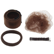 Hair Bun Shapers, 6sets Hair Styling Maker, Beauty Crown and Donut Hair Style Tools