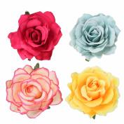 MISM Rose Flower Hair Accessories Headband Bohemian Floral Hair Clip Brooch-4pcs