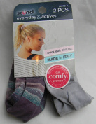 Scunci Everyday & Active Scrunchies Made In Italy, Hair Ties, Grey and Purple