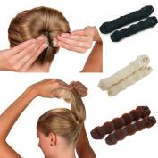 Magic Hair Bun Maker Hair Donut Foam Sponge Clip French Twist Hair Styling Ring Former Shaper Chignon Hair Curler Accessory 6 Pack