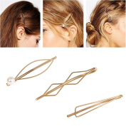 Gold Geometric Hairpin Hair Clip Barrettes Bobby Pin Pears Ornament Women's Gift Headwear Headdress Styling Accessories