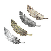 4Pcs Elegant Leaf Feather Hair Clip Hairpin Barrette Bobby Pins Fashion Jewellery Punk Hair Accessory Doubtless Bay