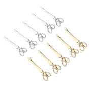 10Pcs New Chic Gold/ Silver Scissors Shape Hair Clip Hair Pin Hairclip Barrettes for Women Girl Doubtless Bay