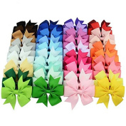 Datingday 40 X Ribbon Bows Hairpins Hair Accessories Princess Dress Headwears for Baby Kids Children Girls