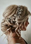 FXmimior Vintage Wedding Bridal Headband Headpiece Tiara Bride Hair Accessories