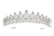 Rhinestone Crystal Flower Design Bridal Wedding Pageant Tiara Crown T1155