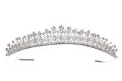 Beauty Pageant Rhinstone Crystal Beads Bridal Wedding Tiara Crown T1151