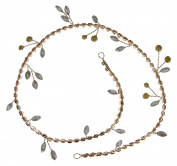 Enchanted Brides Handmade Simple-and-Elegant Bridal Flexible Headband in Trendy Rose Gold Colour