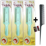 COTU (R) Hair Comb and 3 x Dorco Tinkle Hair Cutter Combo Bundle
