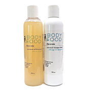 Body Food Healthy Hair Duo with Coconut Oil Shampoo and Coconut Vinegar Conditioning Rinse