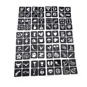 Pack of 20 Sheets Crafts Adhesive Stencils Template for Henna Tattoo Body Art Painting Glitter Tattoos