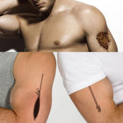 TAFLY Waterproof 3D Open Zipper Panther Fake Tattoos that Look Real for Men 5 Sheets
