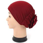 FEITONG Women Muslim Hat Beanie Scarf Turban Head Wrap Cap