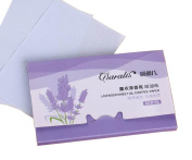 [Lavender] 3 Sets Unisex Facial Oil Blotting Papers Oil Control Papers