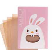 [Bear Pink] 3 Sets Unisex Facial Oil Blotting Papers Oil Control Papers