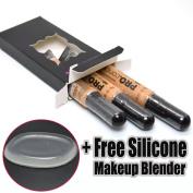 LA Girl Pro Concealer 3 x GC976 Pure Beig HD Liquid Conceal + 1 Free Silicone Makeup Blender