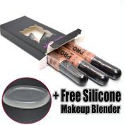 LA Girl Pro Concealer 3 x GC975 Medium Bisque HD Liquid Conceal + 1 Free Silicone Makeup Blender