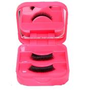 Baomabao False Eyelash Storage Box Makeup Cosmetic Mirror Case Organiser