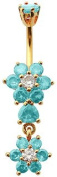 Blingbling GlitZ Women's Belly Bar Surgical Steel With Crystals Ring 10 mm