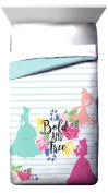 "Disney Princess Garden ""Bold and Free"" Twin/Full Reversible Comforter with Cinderella, Belle & Rapunzel"