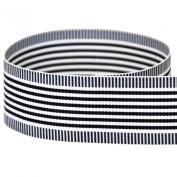 "USA Made 7/8"" Navy Vertigo Striped Grosgrain Ribbon - 20 Yards"
