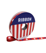 Americana Patriotic Ribbon 1cm x 2.7m Red with Blue & White Stars