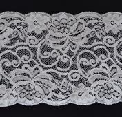 Ribbon Bazaar Lace A1269 Flat 16 cm Beige 25 yards 100% Polyester