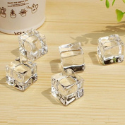 Artificial Simulation Ice Cubes 2Cm Clear Acrylic Ice Cubes Photography Props Or Home Decoration X 20Pcs