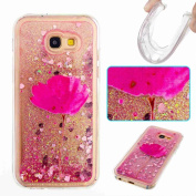 Samsung Galaxy A5 2017 Case,ARSUE Cool Moving Bling Glitter Sparkle Design Printed Liquid Quicksand Transparent Soft Case for Samsung Galaxy A5 2017 (Not Fit for A5 2015 / 2016)